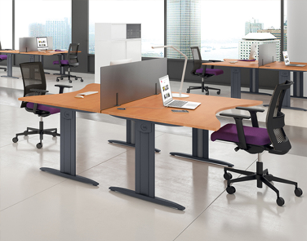 Opus Wave Beam System Desks