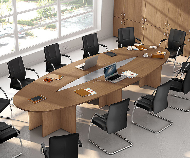 Jupiter attractive oval shaped conference and meeting room table