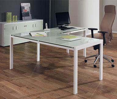 glass desk for office. green glass executive desk for office