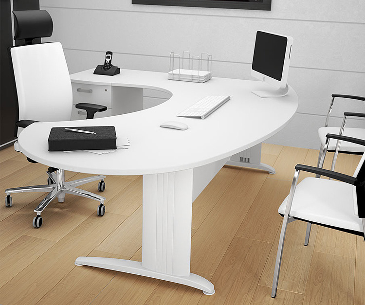 Sigma White executive radial desk