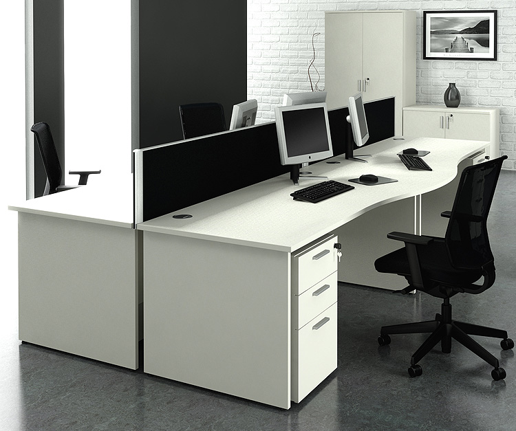 Alpine White Desk Range