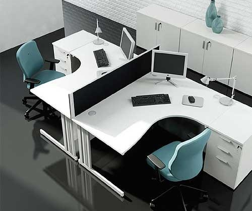 Ice White Desk Range