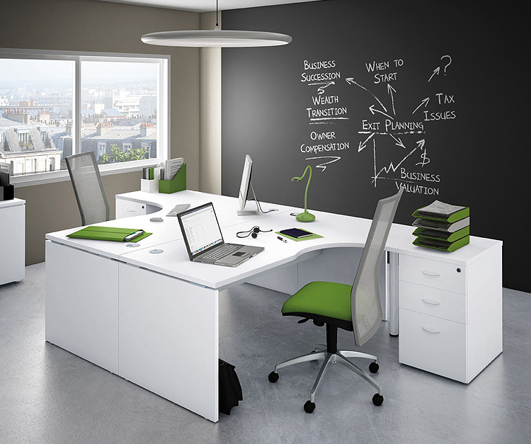 Beacon Radial Office Desk Range