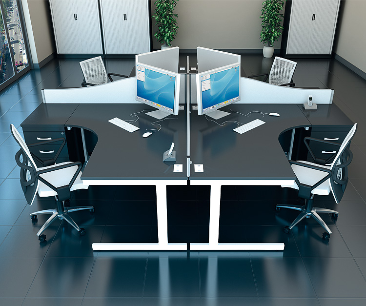 Raven Black Office Desk Range