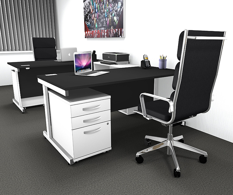 Raven Black Rectangular Desks Range