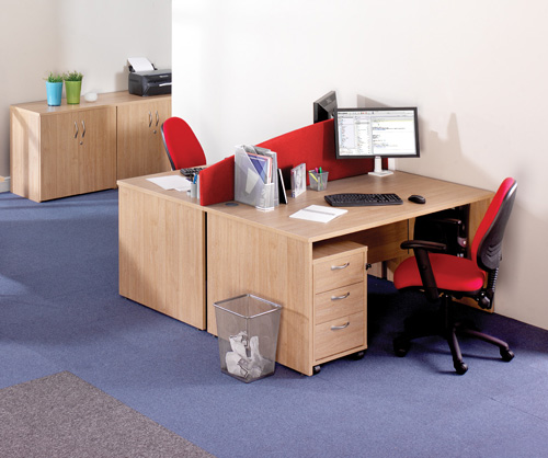Galaxy Rectangular Desk & Pedestal Sets