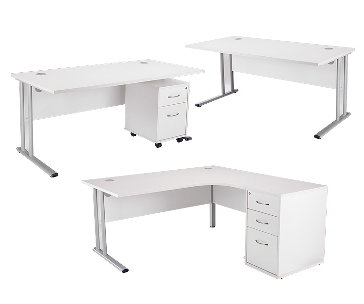 24/48 Hour White Desks Range