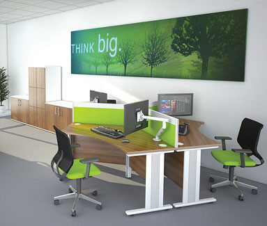 Trio 120 Degree Desk Range