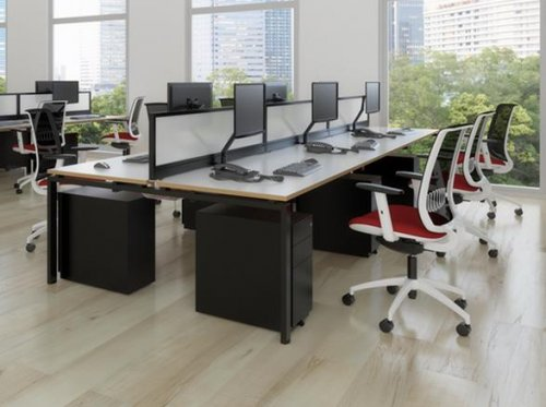 Adaptor Premium 'Black & White' Bench System Desks
