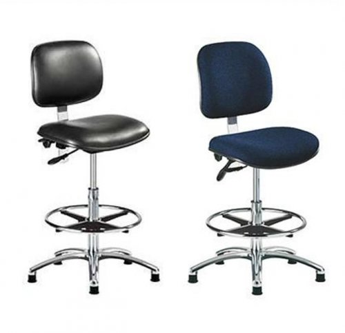 ESD Static Safe Fabric Draughting Chair & ESD Static Safe & Sterile Vinyl Draughting Chair