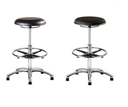 ESD Static Safe Fabric Draughting Stool & ESD Static Safe & Sterile Vinyl Draughting Stool