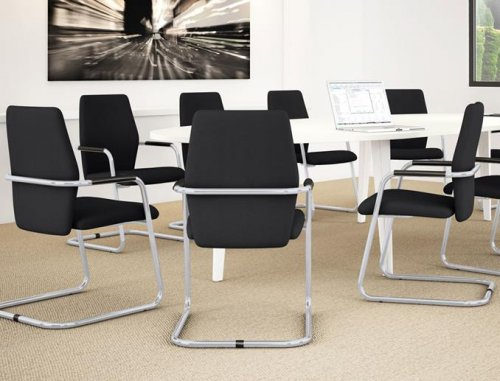 Excellent Fever Faux Leather Conference Chair Office Meeting Machost Co Dining Chair Design Ideas Machostcouk