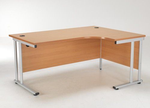 24/48 Hour Delivery Beech & Oak Radial Cantilever Desk