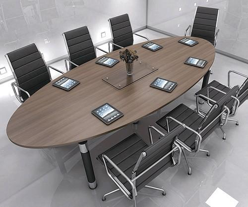 Inca Elliptical Boardroom Table Southern Office Furniture - Boardroom table power and data modules
