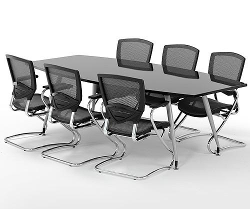 High Gloss Black Meeting Room Conference Table Meeting - Black conference room table