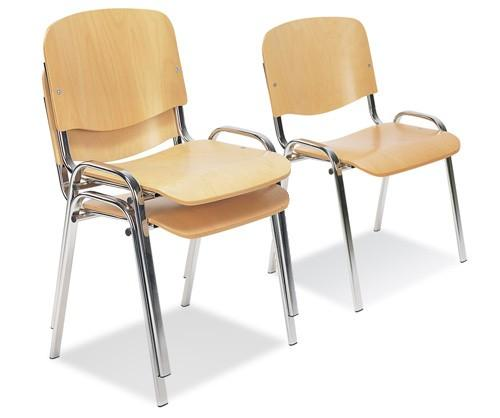 iso plywood multi purpose stacking chair office meeting