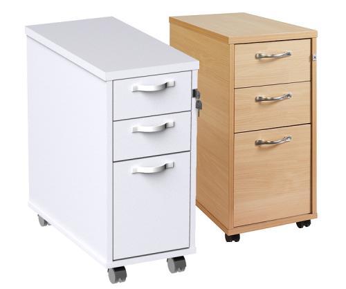 Progress Tall Slimline Mobile Under, Under Desk Cabinets
