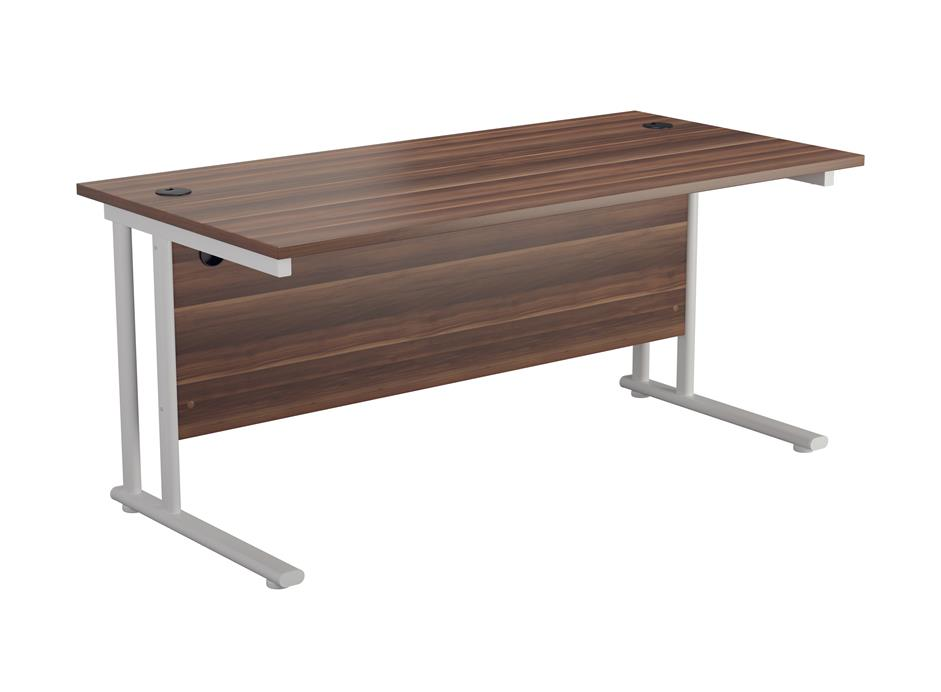 24/48 Hour Delivery Walnut Rectangular Cantilever Desk