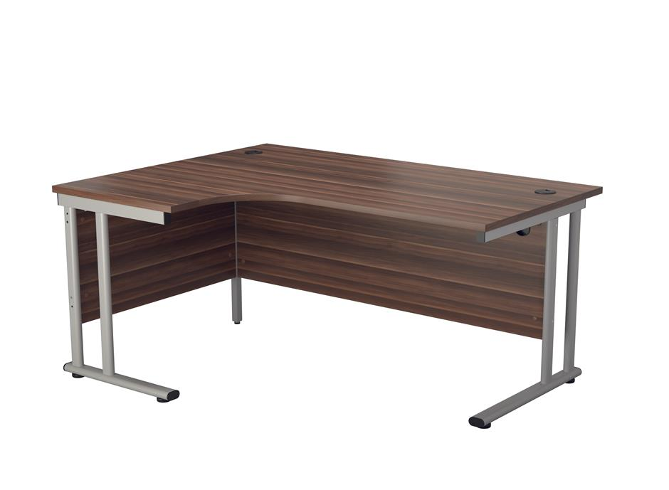 24/48 Hour Delivery Walnut Radial Cantilever Desk