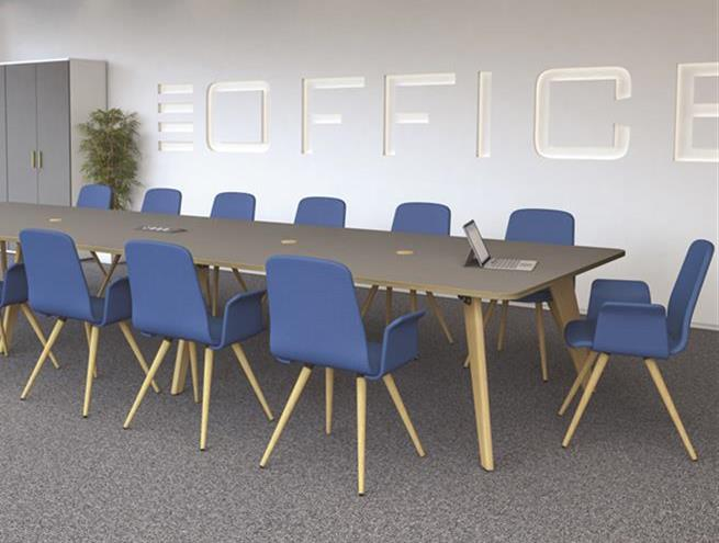 Evolve Slate Grey Boardroom Table