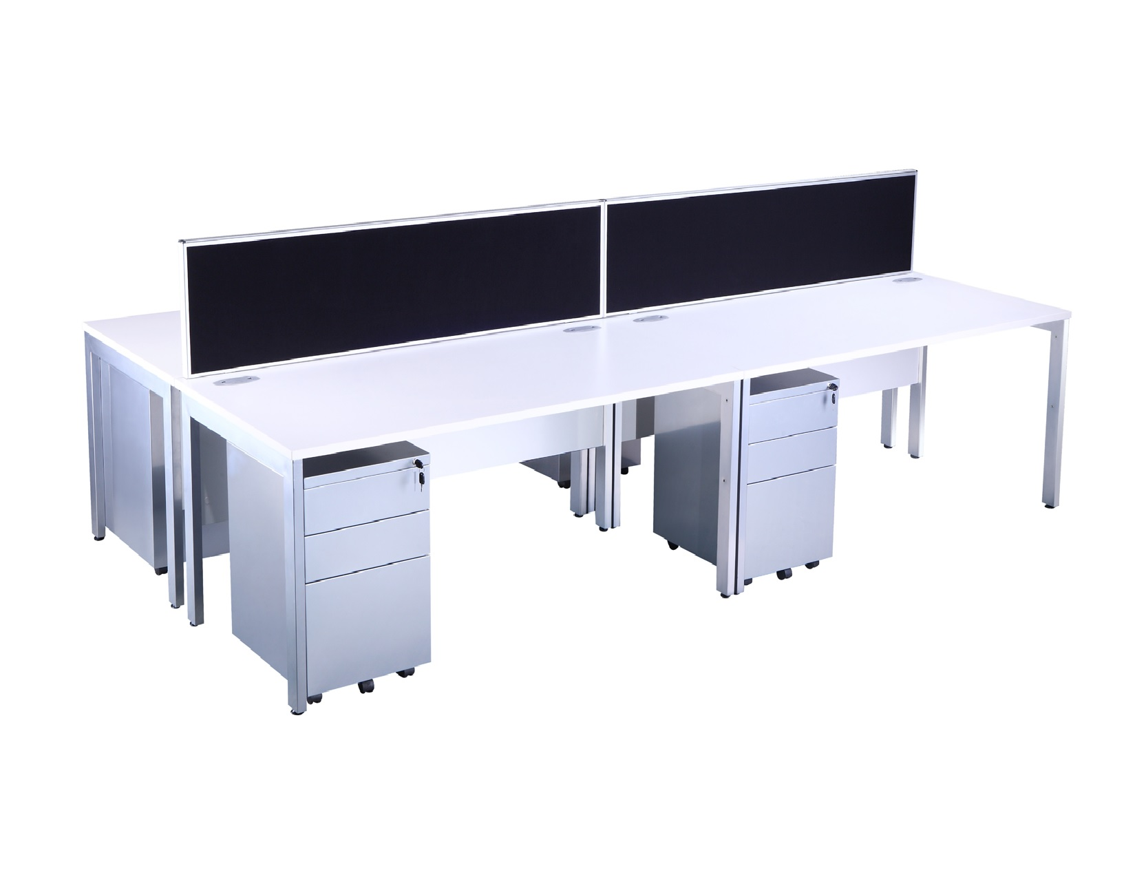 Explore White Bench Style Office Desk & Pedestal Sets