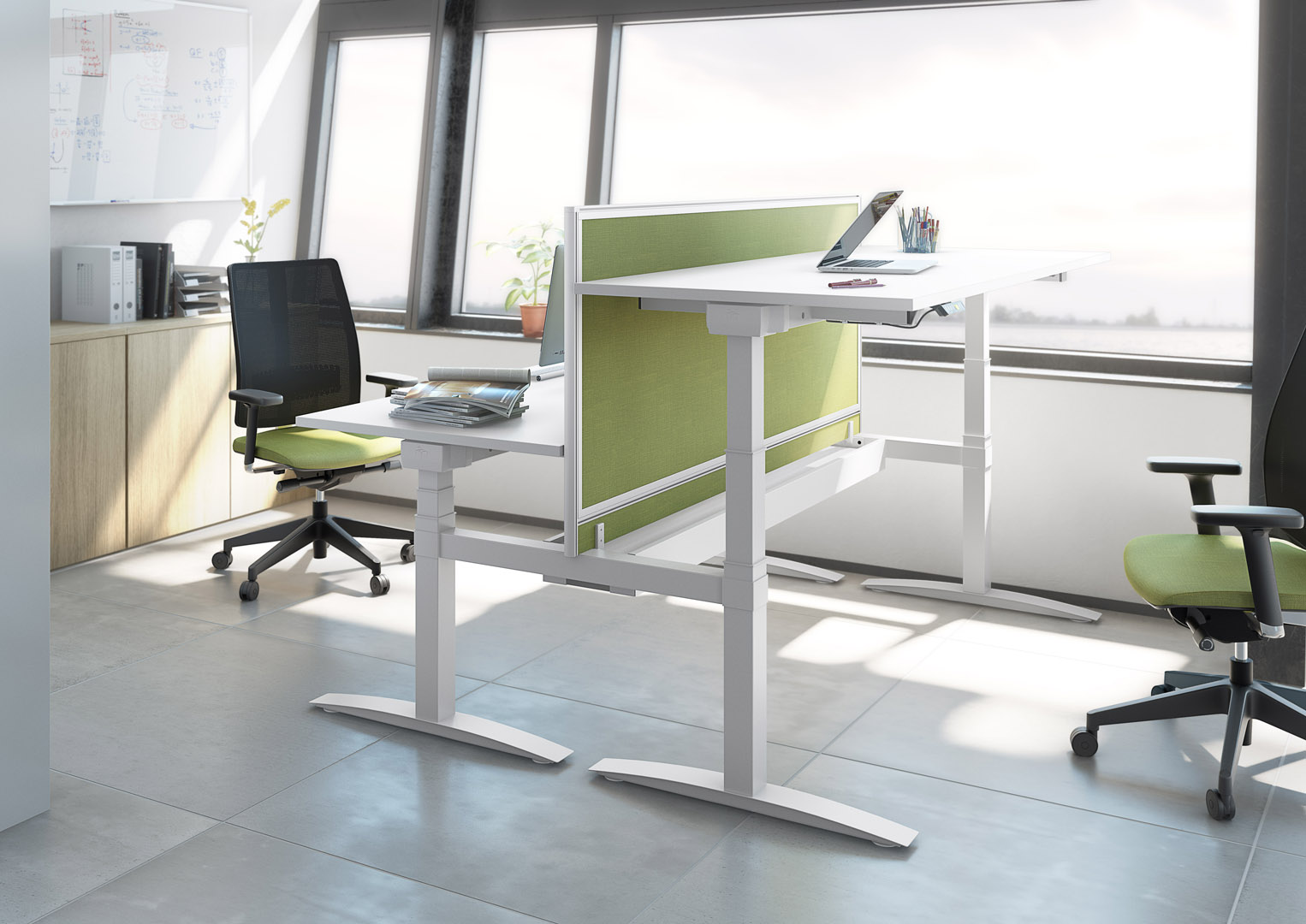 Join Electric Height Adjustable Executive Desk