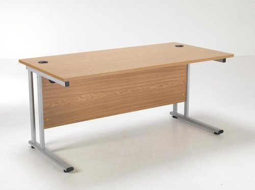 24/48 Hour Beech & Oak Rectangular Cantilever Office Desk