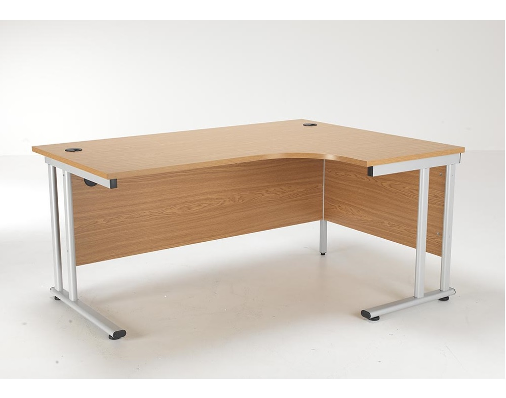 24/48 Hour Beech & Oak Radial Cantilever Office Desk