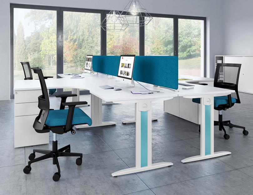 Opus Radial Beam System Office Desks