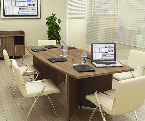 Panache Boat Shaped Compact Boardroom Table