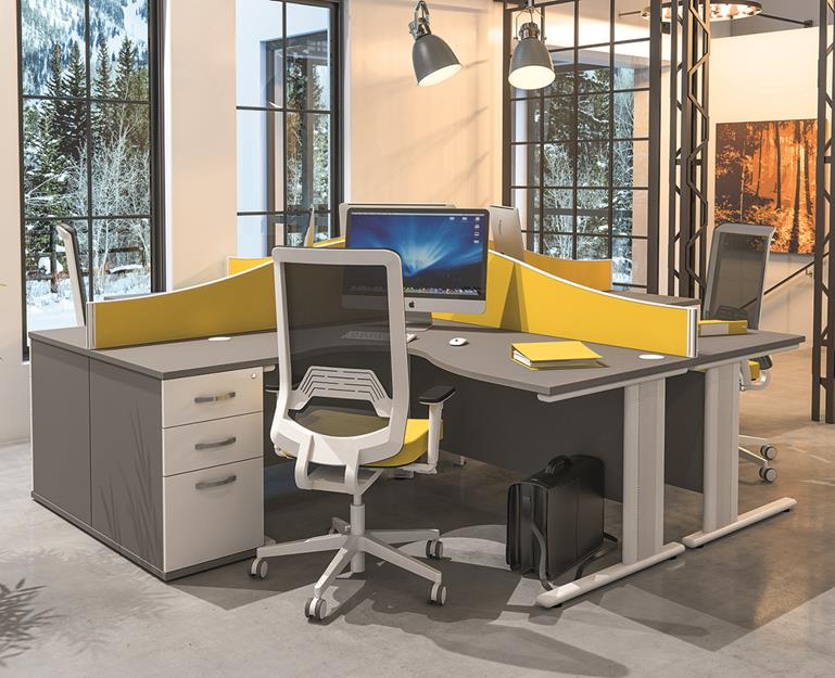 Qudos Radial Desk & Pedestal Sets