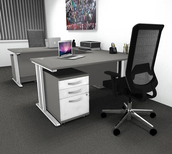 Qudos Rectangular Desk & Pedestal Sets