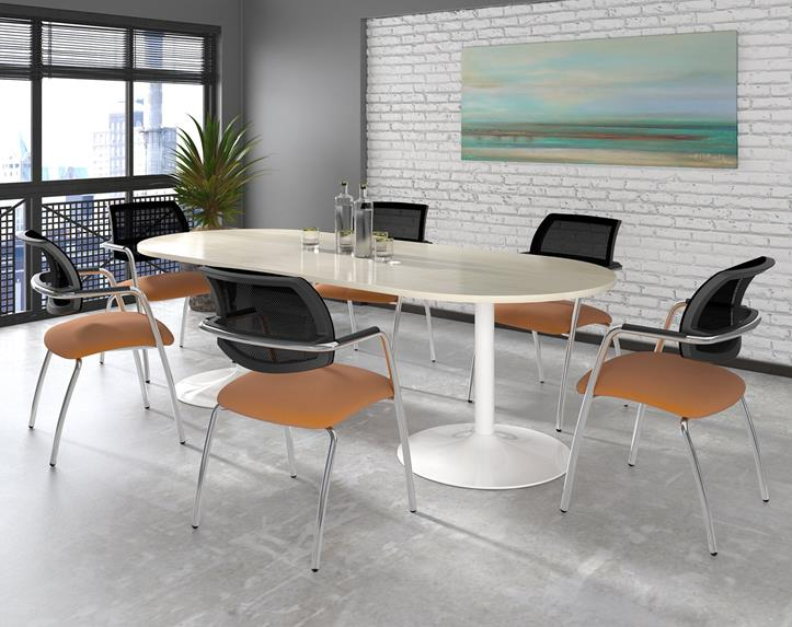 Savoy White Base Compact Meeting Room Table