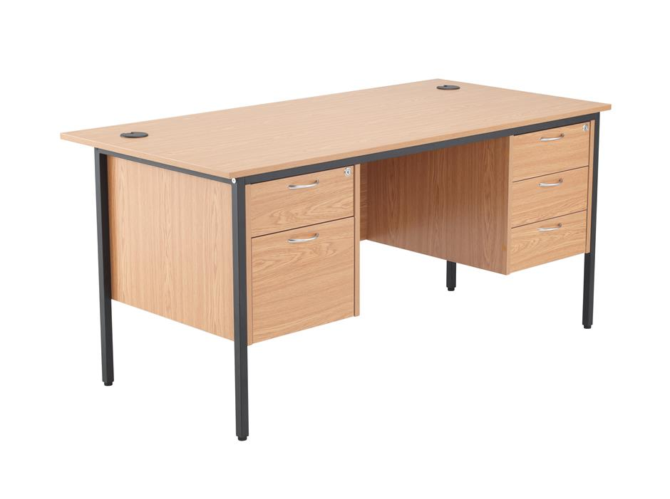 Start 24/48 Hour Double Pedestal Rectangular Office Desk