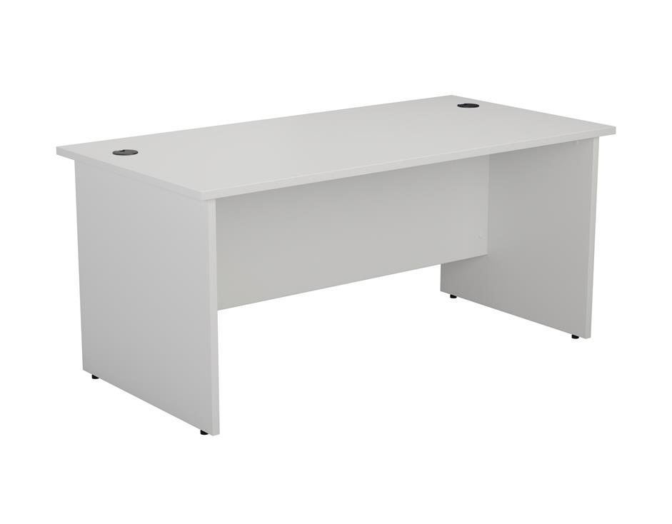 24/48 Hour White Panel End Rectangular Office Desk