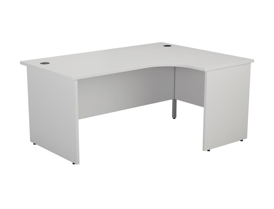 24/48 Hour White Panel End Radial Office Desk