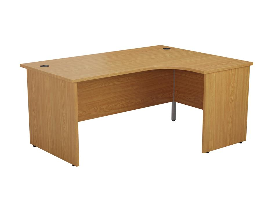 24/48 Hour Beech & Oak Panel End Radial Office Desk