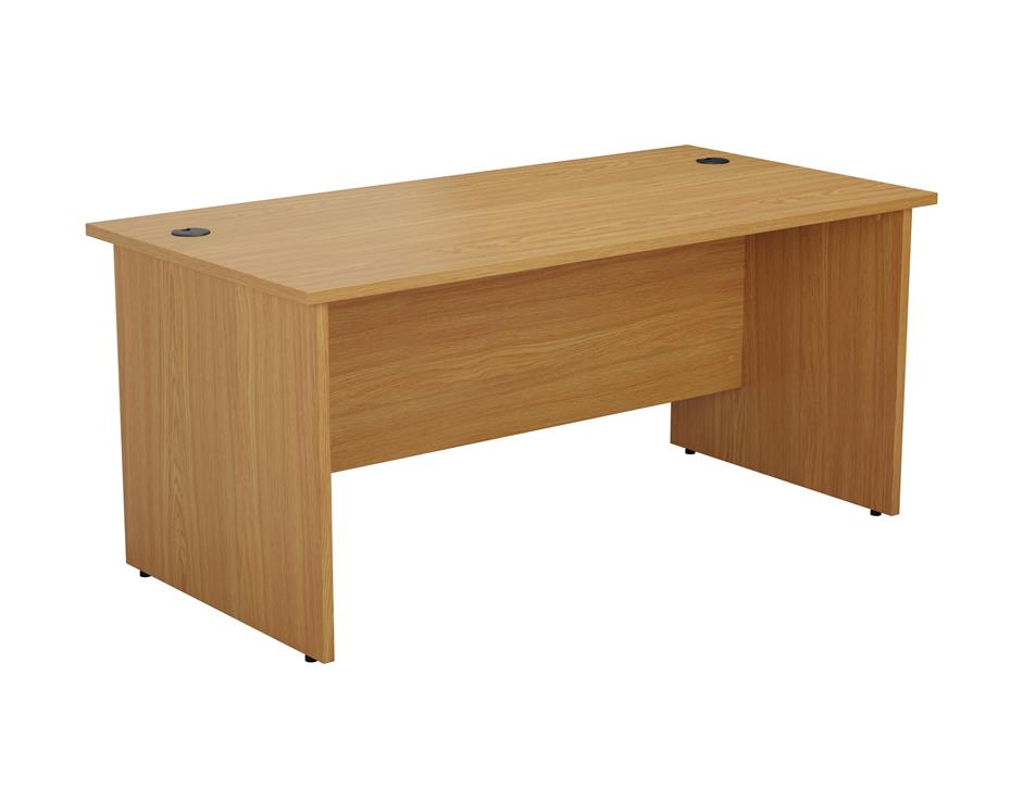 24/48 Hour Beech & Oak Panel End Rectangular Office Desk