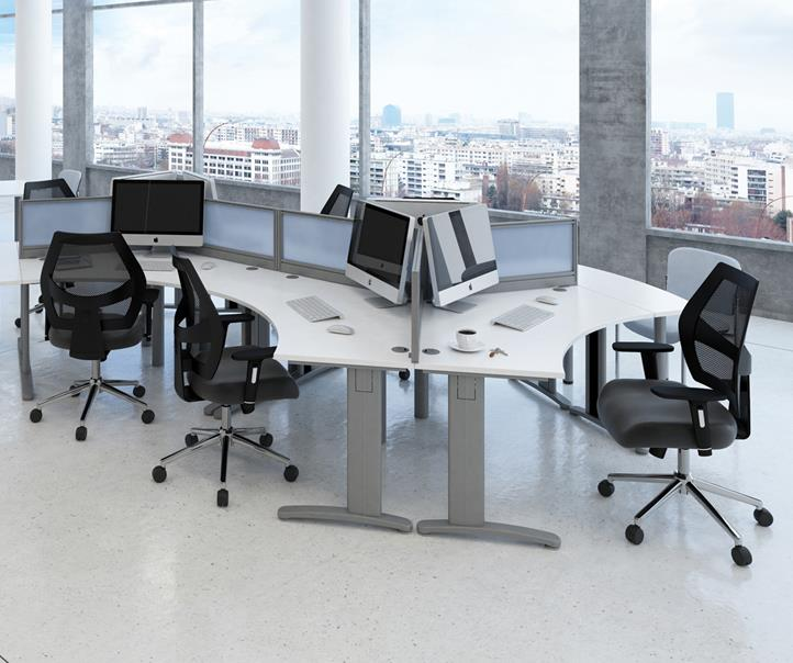 Trilogy 120 Degree Office Desk Cluster