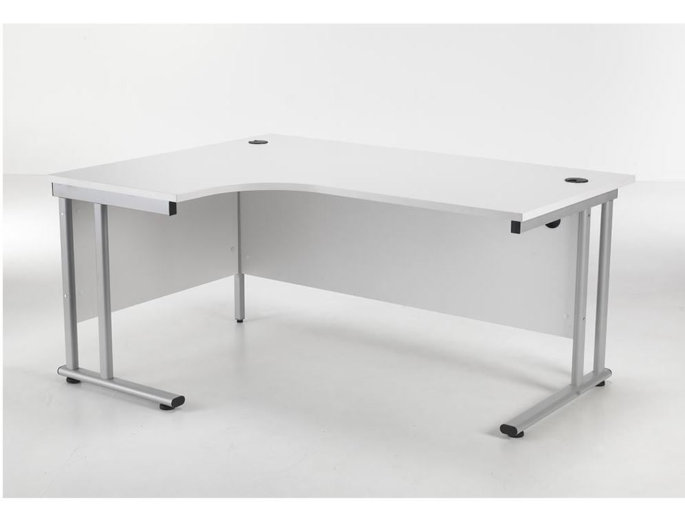 24/48 Hour White Radial Cantilever Office Desk