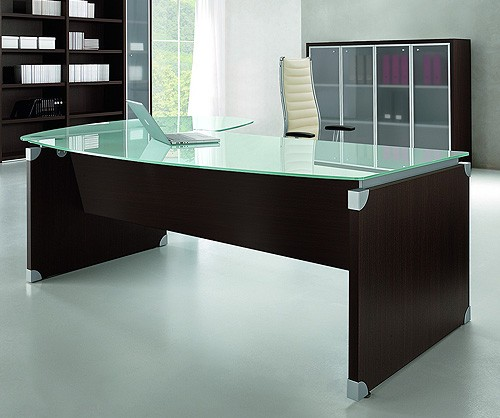 glass desk table tops. Ultra Bow Fronted Glass Top Desk Table Tops S