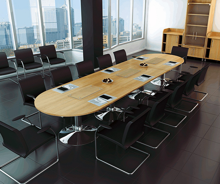 Summer double 'd' ended boardroom table