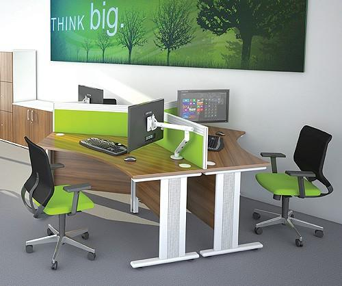 Trio 120 Degree Office Desk Cluster