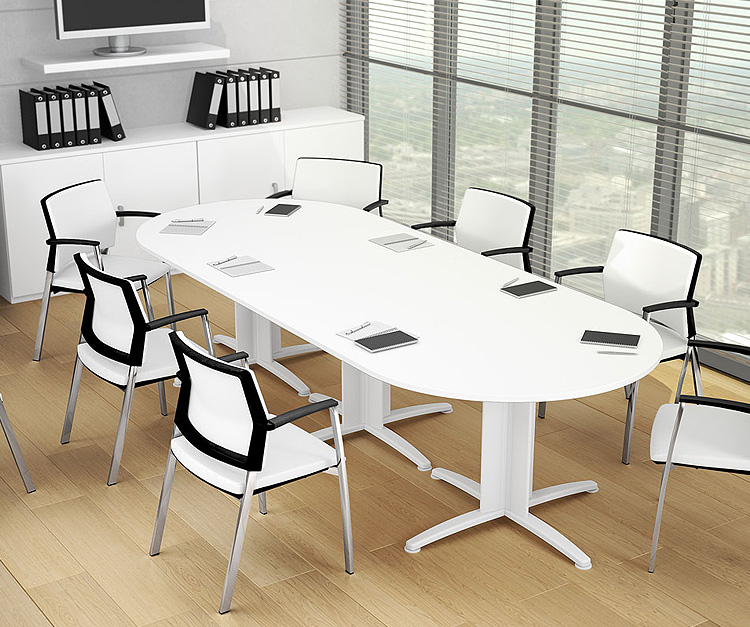 Sigma White boardroom table
