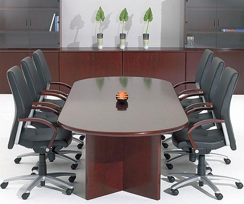 Corniche classic style D ended real wood veneer conference table