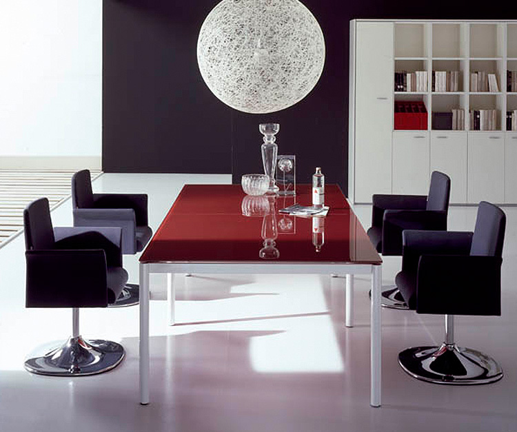 Acer Glass Top Boardroom Table