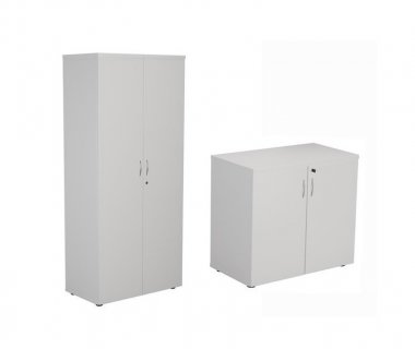 24/48 Hour White Double Door Cupboards