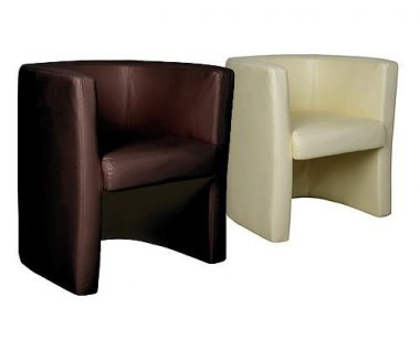 Andes Leather Faced Tub Chair
