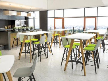 Evolve High Bench Table & Stools