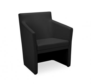 Laser Leather Faced Tub Chair